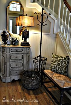 cute small Foyer/entry way - The Endearing Home