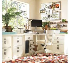 Perfect filing cabinets to pair with an Ikea countertop for a built-in looking desk. My office needs a makeover. $269