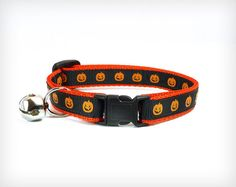 Halloween Sale 15% OFF Cat Collar Superstition by MadeByCleo #madebycleo #cats #cute #halloween
