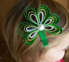 St. Patricks Day Shamrock Hair Clip