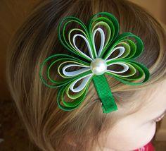 St. Patricks Day Shamrock Hair Clip