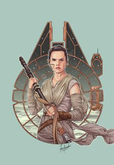 darthfar: Rey. For all of you who asked (it was already in the works, but y'know). Looks like a cinnamon roll; will reduce you to a bag of painful misery if you try anything. <3 <3 I tried two different sketches/compositions, ragequit and went to play several days of Fallout 4 before I finally settled on something I could live with. And then just about drove myself nuts myself inking it, LOL. See also Finn and Poe Dameron.