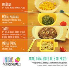 menu para bebes de 8-10 meses