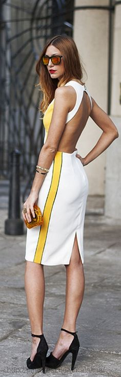 Street style <3 white hot dress