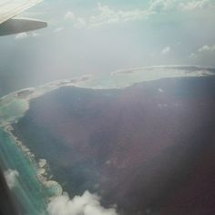 First glimpse of the Andaman Islands from the aircraft.