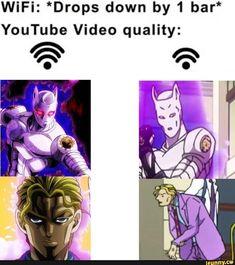 Anime Meme, Manga Anime, Stupid Funny Memes, Funny Relatable Memes, Jojo's Bizarre Adventure, Jojo Memes, Jojo Bizarre, Funny Comics, Popular Memes