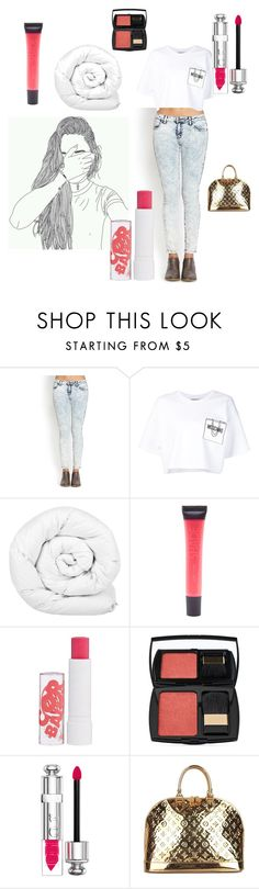 """""""Moschino"""" by sarahwuzhere on Polyvore featuring Forever 21, Moschino, Brinkhaus, Lane Bryant, Barry M, Lancôme, Christian Dior and Louis Vuitton"""