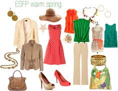 """""""ESFP warm spring"""" by expressingyourtruth on Polyvore"""