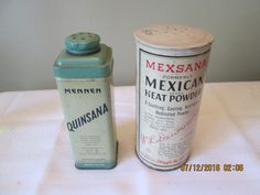 Vintage Mennen Quinsana, Mexsana Heat Powder, Plough Inc, Wm L Dewvvdy, Polvo Brand Mexsana by RoseBarb on Etsy