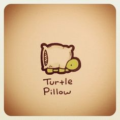 Turtle Pillow Print