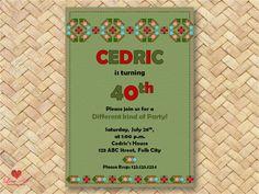 birthday invitation Romanian Invitation by LoveArtSyou 40th Birthday Invitations, 50th Birthday, Party Invitations, Mexican Party, Diy Party, Scrapbook Paper, Digital, Holiday Decor, Awesome