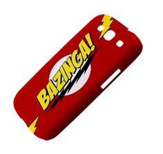 New Big Bang Theory BAZINGA Samsung Galaxy S III Hardshell Case Cover Samsung Galaxy S3 Case