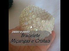 NM Bijoux - Bracelete Miçangas e Cristais - passo a passo