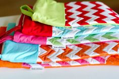 PRE ORDER: Personalized Chevron Christmas Stockings by LoveByHand on Etsy