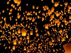 Chiang Mai's skies light up with thousands of lanterns every year during the Yi Peng festival. Tangled fans, start packing.