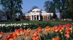 Monticello in Charlottesville, Virginia - former home of Thomas Jefferson, third President of the United States.