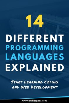 14 different programming languages explained - start learning coding and web development Basic Computer Programming, Learn Computer Science, Computer Coding, Learn Programming, Python Programming, Different Programming Languages, Coding Languages, Coding For Beginners, Web Development Tools