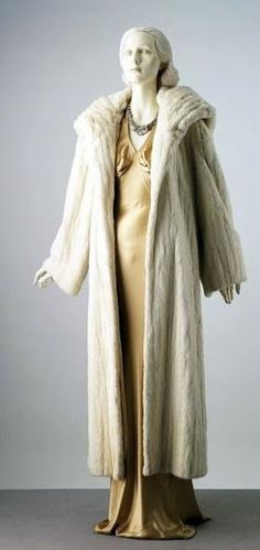 Evening coat Date: ca. 1936 Madeleine Vionnet, Ermine fur lined with wool and satin, faced with cotton Credit Line: Given by Ottilie, Viscountess Scarsdale