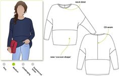 StyleArc - Sunny Knit Top - I probably wouldn't use the CB seam unless I color blocked it. - SA incl