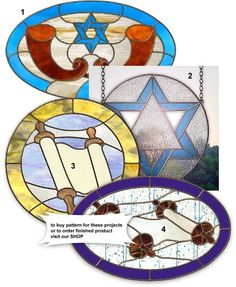 Stained glass Hebrew