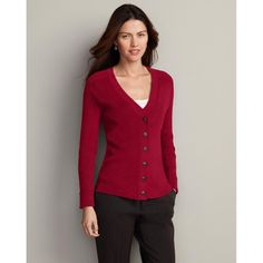 Eddie Bauer Medina Cardigan, Lipstick Red M Regular « Impulse Clothes