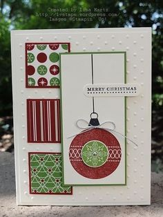 Christmas card -Stampin up by christa