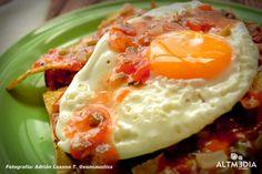 Fast breakfast -- Totopos Estrellados
