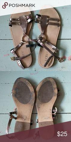 6a30483adb2a12 I just added this listing on Poshmark  J. Crew Leather Sandals.   shopmycloset