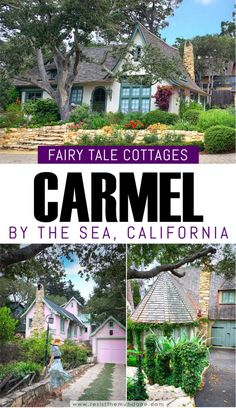FREE WALKING TOUR MAP! Self-guided tour of Hugh Comstock fairytale cottages in Carmel by the Sea in Monterey, California. This picturesque town is so magical! #visitcarmel #visitcarmelbythesea #visitmonterey #exploremonterey #explorecarmel #carmelcottages #fairytalecottages #storybookcottages #whattodoincarmel #carmelbythesea #carmelcalifornia #visitcalifornia #roadtripcalifornia #carmelbytheseacottages #twodaysincarmel #thingstodoincarmel
