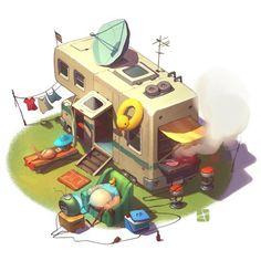 ArtStation - sweet home, Alexandr Pushai