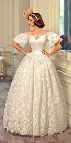s Bridal Gowns With A Retro Feel ❤ See more: http://www.weddingforward.com/1960s-bridal-gowns/ #weddings