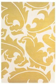 Overleaf Yellow rug - The Rug Company