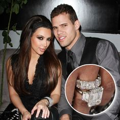 Kim Kardashian with then husband Kris Humphries 2010: Top 23 Enviable Celebrity Engagement Rings - Jeweller Magazine: Jewellery News and Trends