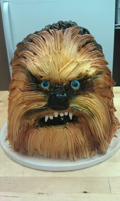 Star Wars Chewbacca Grooms Cake - this one was made out of cheesecake.