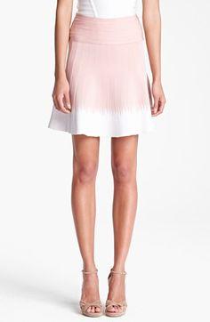 Short Contrast Hem Skirt
