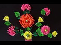 DIY Projects : How to Make Beautiful Paper Dahlia Craft for Home Decoration   DIY Room Decor - YouTube