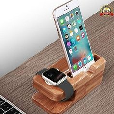 iPhone 7 Plus Stand Holder Wooden Bambo Charging Cradle Nightstand Apple Station #iPhone7PlusStandHolder