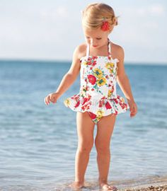 This is cute, I don't like when little girls wear two piece bathing suits