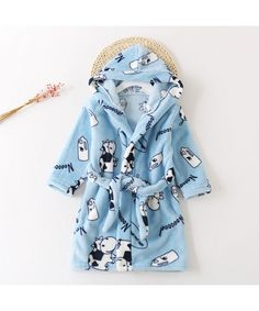 c048e5073a4d New winter children s flannel robe for boys and girls
