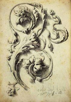 acanthus scrolling                                                                                                                                                      Mais