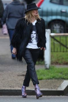 Pin for Later: Kate Moss Pays Homage to Her Idol David Bowie in the Best Way She Knows How