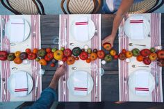 the perfect summer table with ripe tomatoes as a centerpiece