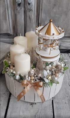 Christmas Home, Handmade Christmas, Christmas Crafts, Christmas Decorations, Table Decorations, Floral, Ideas, Home Decor, Merry Christmas