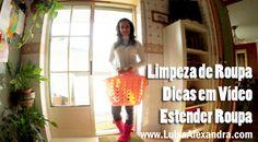Luisa Alexandra: Limpeza de Roupa • Dicas em Vídeo • Estender Roupa