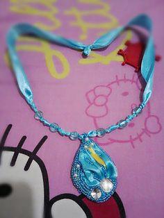 Shibori necklace #myhandmade