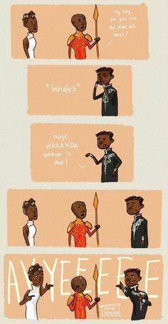 Wakanda pun black panther t'challa shuri okoye wakanda question wakanda nonsense
