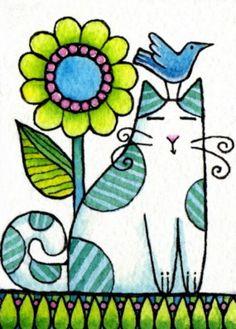 42 Colorful Peace Poles Design Ideas For Your Garden Peace Pole, Pewter Art, Arte Country, Cat Quilt, Cat Cards, Flower Wall Decor, Arte Pop, Fabric Painting, Rock Art