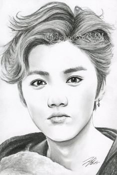 Want to discover art related to luhan? Check out inspiring examples of luhan artwork on DeviantArt, and get inspired by our community of talented artists. Naruto Drawings, Kpop Drawings, Art Drawings Sketches, Pencil Drawings, Luhan, Exo Fan Art, Girly Drawings, Face Sketch, Kpop Fanart