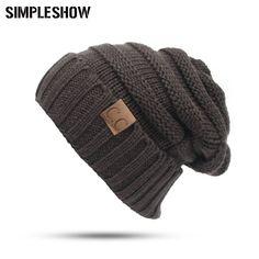 Aliexpress.com  Comprar Nuevo diseño de invierno sombrero para los hombres  mujeres punto skullies gorros hombre gorritas moda grueso Cap unisex sólido  color ... 97296fce367