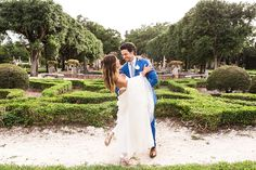 hola - Vue Photography Bride and groom wedding at Vizcaya Museum and Gardens dress by: Mira Zwillinger Grooms suit: Michael Andrews Bespoke Shoes: Jimmy Choo